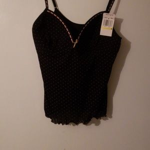 Pink and black tank